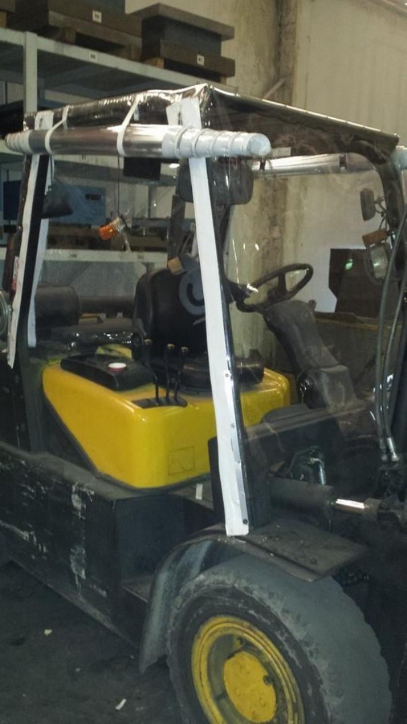Kışlık Forklift Kaplama