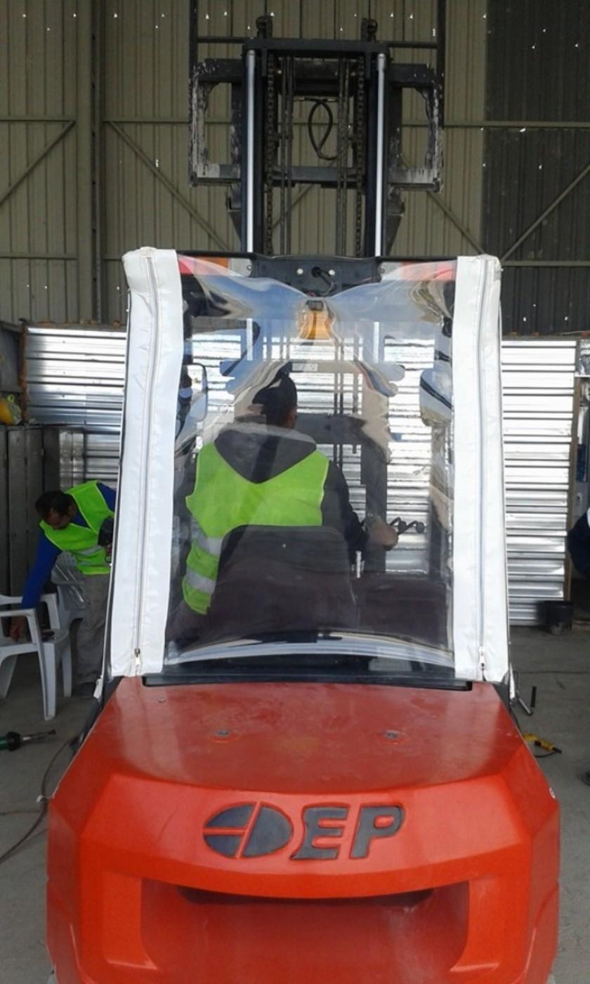 Şeffaf Forklift Brandası
