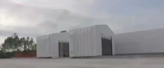 Akordiyon Silo Çadırı